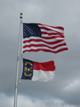NC and US flags